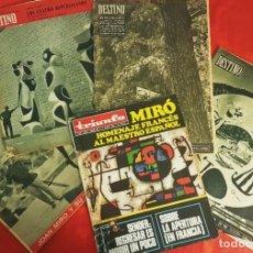 Coleccionismo de Revista Destino: LOTE DE CINCO REVISTAS JOAN MIRO AÑOS 50-60. Lote 238198720
