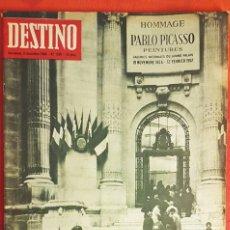 Coleccionismo de Revista Destino: LOTE DE TRES REVISTAS PICASSO. Lote 238199110