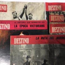 """Coleccionismo de Revista Destino: PACK DE SEIS EJEMPLARES DE LA REVISTA """"DESTINO"""" – FINALES DE LOS AÑOS 60 –. Lote 243991535"""