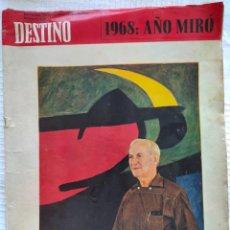 Coleccionismo de Revista Destino: REVISTA DESTINO 1625 DEL 23 NOVIEMBRE 1968. Lote 252837740