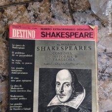 Coleccionismo de Revista Destino: SHAKESPEARE DESTINO. Lote 254259955