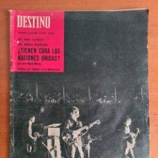 Coleccionismo de Revista Destino: REVISTA DESTINO LOS BEATLES EN LA MONUMENTAL - AÑO 1965. Lote 287974418