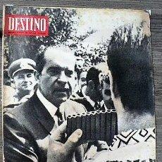 Coleccionismo de Revista Destino: REVISTA DESTINO Nº 1662, 9 DE AGOSTO DE 1969. Lote 292033618