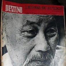 Coleccionismo de Revista Destino: REVISTA DESTINO Nº 1667, 13 DE SEPTIEMBRE DE 1969. Lote 292034598