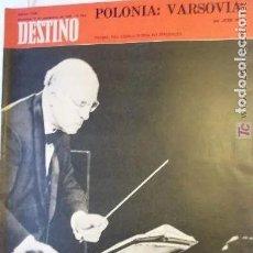 Coleccionismo de Revista Destino: REVISTA DESTINO 1666 DEL 6 SEPTIEMBRE 1969. Lote 292374203