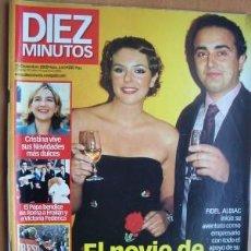 Coleccionismo de Revista Diez Minutos: DIEZ MINUTOS Nº 2573 FECHA 15/12/00 EN PORTADA- EL NOVIO DE ROCÍO SE PONE A TRABAJAR (3 PÁGINAS). Lote 17294241