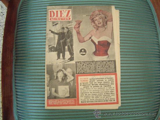 REVISTA DIEZ MINUTOS. (Coleccionismo - Revistas y Periódicos Modernos (a partir de 1.940) - Revista Diez Minutos)