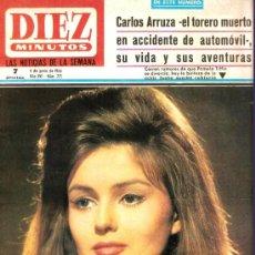 Coleccionismo de Revista Diez Minutos: REVISTA DIEZ MINUTOS PAMELA TIFFIN EN PORTADA AÑO 1966. Lote 25852968