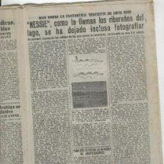 Coleccionismo de Revista Diez Minutos: REVISTA DIEZ MINUTOS.AÑO 1953. ESCOCIA. LAGO NESS. NESSIE. EL MONSTRUO DEL LAGO. . Lote 10123754