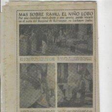 Coleccionismo de Revista Diez Minutos: REVISTA DIEZ MINUTOS. AÑO 1954 .EL NIÑO LOBO . DE BALRAMPUR. LUCKNOW. INDIA. . Lote 10124302