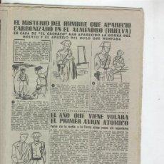 Coleccionismo de Revista Diez Minutos: REVISTA DIEZ MINUTOS. AÑO 1954.EL MISTERIO DEL HOMBRE QUE APARECIO CARBONIZADO EN EL ALMENDRO.HUELVA. Lote 10124439