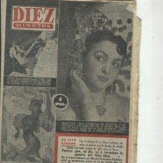 Coleccionismo de Revista Diez Minutos: REVISTA DIEZ MINUTOS. AÑO 1954. MARUJITA DIAZ. FERIA DE SEVILLA. BOMBA EN BIKINI. . Lote 10124586