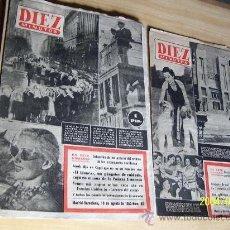Coleccionismo de Revista Diez Minutos: DIEZ MINUTOS, Nº. 48,50,70,71,72,73,74.- 7 REVISTAS DE 12 A 20 PÁG., INCLUIDAS LAS TAPAS. Lote 19210520