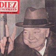 Coleccionismo de Revista Diez Minutos: DIEZ MINUTOS ENERO 1965 Nº 701-ENTIERRO DE CHURCHILL.. Lote 24503816