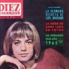 Coleccionismo de Revista Diez Minutos: DIEZ MINUTOS.ENERO 1965 Nº 697-CATHERINA SPAAK EN PORTADA. Lote 23249440