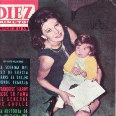 Coleccionismo de Revista Diez Minutos: DIEZ MINUTOS.ENERO 1965 Nº 698-MAGALI NOEL EN PORTADA.PRECIO ORIGINAL 5 PESETAS. Lote 25716630