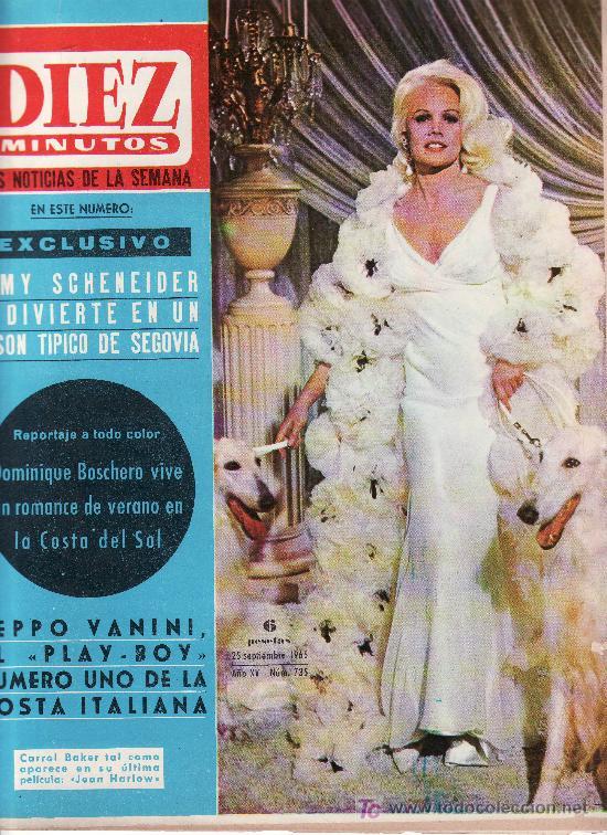 DIEZ MINUTOS -SEPTIEMBRE1965 Nº 735 CARROL BAKER COMO APARECE EN LA PELICULA