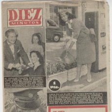 Coleccionismo de Revista Diez Minutos: REVISTA - DIEZ MINUTOS - Nº 270 - 0CTUBRE 1956 - SORAYA EN CONTRAPORTADA. Lote 26602901