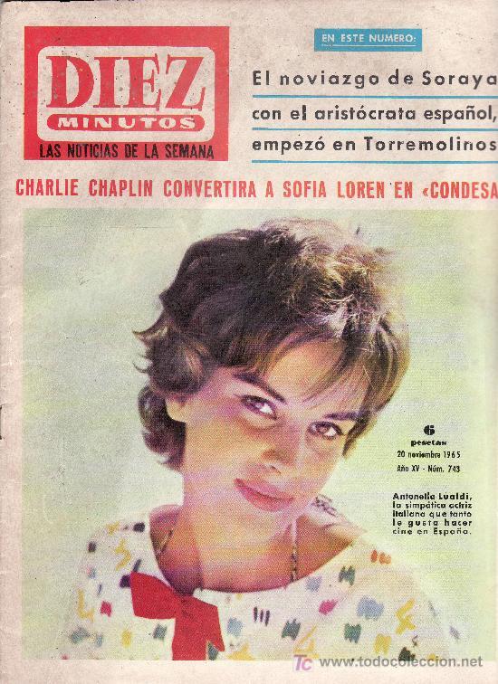 DIEZ MINUTOS Nº 743-NOVIEMBRE 1965-COLECCIONISMO EN GENERAL-RASTRILLOPORTOBELLO (Coleccionismo - Revistas y Periódicos Modernos (a partir de 1.940) - Revista Diez Minutos)