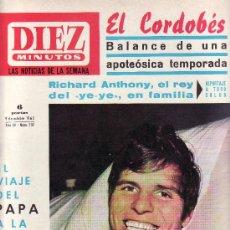 Coleccionismo de Revista Diez Minutos: DIEZ MINUTOS Nº 737-OCTUBRE 1965-COLECCIONISMO EN GENERAL-RASTRILLOPORTOBELLO. Lote 23729137