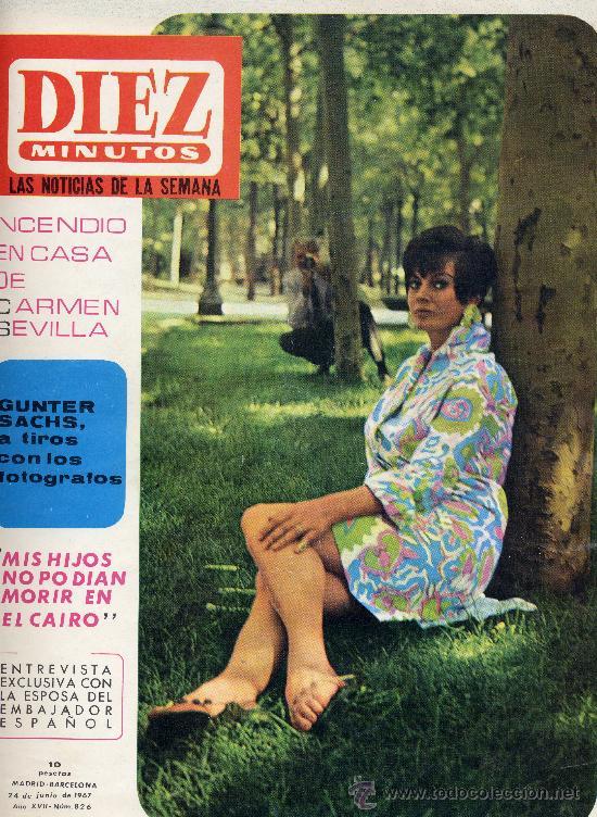 DIEZ MINUTOS Nº826 (JUNIO 1967). CARMEN SEVILLA, BRIGITTE BARDOT, CONCHA VELASCO,... (Coleccionismo - Revistas y Periódicos Modernos (a partir de 1.940) - Revista Diez Minutos)