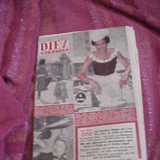 Coleccionismo de Revista Diez Minutos: DIEZ MINUTOS. Nº 196. MAYO 1955. IDILIO DE GRACE KELLY Y JEAN PIERRE. *. Lote 18971568