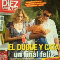 Coleccionismo de Revista Diez Minutos: REVISTA DIEZ MINUTOS Nº 2991 DICIEMBRE 2008 EL DUQUE Y CATA FINAL FELIZ. MADONNA. Lote 27132371