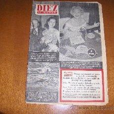 Coleccionismo de Revista Diez Minutos: DIEZ MINUTOS MADRID BARCELONA 29 DE NOVIEMBRE DE 1953 Nº 118. Lote 27116470