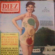 Coleccionismo de Revista Diez Minutos: DIEZ MINUTOS - N 678 - 1964 - RITA HAYWORTH - CHAPLIN HIJO - ANNA MAGNANI. Lote 25839203