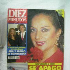 Coleccionismo de Revista Diez Minutos: REVISTA DIEZ MINUTOS MUERTE DE LA FARAONA LOLA FLORES 26-5-95 Nº 2283. Lote 26099656