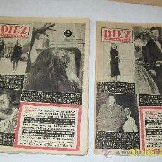 Coleccionismo de Revista Diez Minutos: DIEZ MINUTOS, NSº -359 A 369-11 REVISTAS-1958-CON 20 PÁG., ILUSTRADAS, INFORMACIÓN Y ANUNCIOS. Lote 27344309