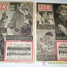 Coleccionismo de Revista Diez Minutos: DIEZ MINUTOS, NSº -320 AL 326-7 REVISTAS-1957-CON 24/22(1)20 PÁG.,ILUSTRADAS, INFORMACIÓN Y ANUNCIOS. Lote 27344364