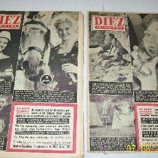 Coleccionismo de Revista Diez Minutos: DIEZ MINUTOS, NSº -314 AL 319-6 REVISTAS-1957-CON 24 PÁG.,ILUSTRADAS, INFORMACIÓN Y ANUNCIOS. Lote 27344392