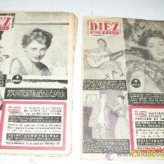 Coleccionismo de Revista Diez Minutos: DIEZ MINUTOS,NSº -280AL285Y298/299/-8 REVISTAS-1957-CON28/24 PÁG.,ILUSTRADAS, INFORMACIÓN Y ANUNCIOS. Lote 27344491