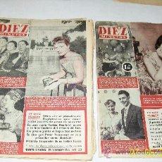 Coleccionismo de Revista Diez Minutos: DIEZ MINUTOS,NSº -220 AL 229-10 REVISTAS-1955/1956-CON (VER) PÁG.,ILUSTRADAS, INFORMACIÓN Y ANUNCIOS. Lote 27365967