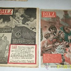 Coleccionismo de Revista Diez Minutos: DIEZ MINUTOS,NSº 121/22-125 AL129-7 REVISTAS-1953/54-CON 24 PÁG.ILUSTRADAS, INFORMACIÓN Y ANUNCIOS. Lote 27366466