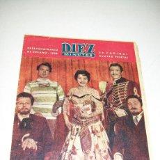 Coleccionismo de Revista Diez Minutos: DIEZ MINUTOS,EXTRAORDINARIO DE VERANO DE1958-DE 36 PÁG.ILUSTRADAS, INFORMACIÓN Y ANUNCIOS. Lote 27366628