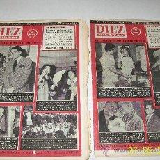 Coleccionismo de Revista Diez Minutos: DIEZ MINUTOS,NSº430 AL 439- 10 REVISTAS-1959/60-DE 24 PÁG.ILUSTRADAS, INFORMACIÓN Y ANUNCIOS. Lote 27375514