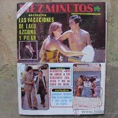 Coleccionismo de Revista Diez Minutos: DIEZ MINUTOS,VICTORIA VERA-MARIA JIMENEZ Y ROCIO JURADO-PALOMA SAN BASILIO Y POSTER.LOLA FORNER. Lote 27752666