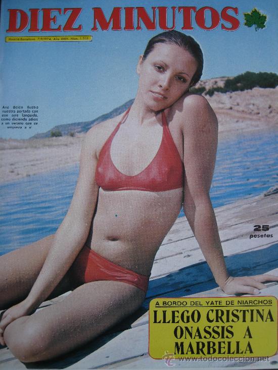 1974. DIEZ MINUTOS Nº 1202 ANA BELEN CRISTINA ONASSIS A MARBELLA (Coleccionismo - Revistas y Periódicos Modernos (a partir de 1.940) - Revista Diez Minutos)
