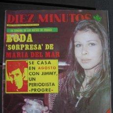 Coleccionismo de Revista Diez Minutos: 1977. REVISTA DIEZ MINUTOS. BODA JIMMY GIMENEZ ARNAU CON MARIA DEL MAR MARTINEZ-BORDIU Y FRANCO. Lote 28723131