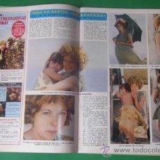 Coleccionismo de Revista Diez Minutos: ARTICULO DE LA REVISTA DIEZ MINUTOS ~ INMA DE SANTIS~ 2 PAG Y 6 FOTOS ~ TRIO LA,LA,LA EUROVISION. Lote 29029968