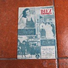 Coleccionismo de Revista Diez Minutos: REVISTA DIEZ MINUTOS Nº 11; AÑO 1951. Lote 29135615