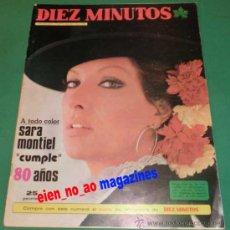 Coleccionismo de Revista Diez Minutos: DIEZ MINUTOS 1183/1974~HELGA LINE~JOHAN CRUYFF~DEMIS ROUSSOS~SUSANNAH YORK~CAMILO SESTO~NATALIE WOOD. Lote 29201822