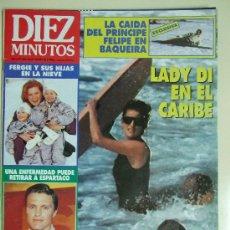 Coleccionismo de Revista Diez Minutos: DIEZ MINUTOS Nº 2160 - ENERO DE 1993 - LADY DI , ESPARTACO , PRINCIPE FELIPE , CHABELI IGLESIAS. Lote 29611631