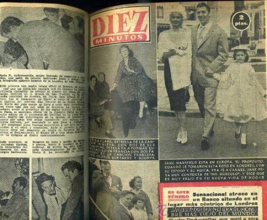 DIEZ MINUTOS : AÑO COMPLETO 1958 - 53 NÚMEROS - (Coleccionismo - Revistas y Periódicos Modernos (a partir de 1.940) - Revista Diez Minutos)