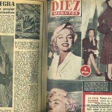 Coleccionismo de Revista Diez Minutos: DIEZ MINUTOS : AÑO COMPLETO 1954 - 53 NÚMEROS - MARILYN MONROE.... Lote 124795780