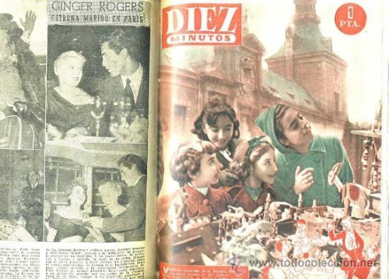 REVISTA DIEZ MINUTOS : AÑO COMPLETO 1953 : 52 NÚMEROS ENCUADERNADOS.. (Coleccionismo - Revistas y Periódicos Modernos (a partir de 1.940) - Revista Diez Minutos)