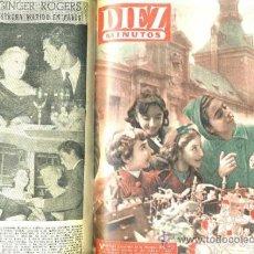 Coleccionismo de Revista Diez Minutos: REVISTA DIEZ MINUTOS : AÑO COMPLETO 1953 : 52 NÚMEROS ENCUADERNADOS... Lote 31010595