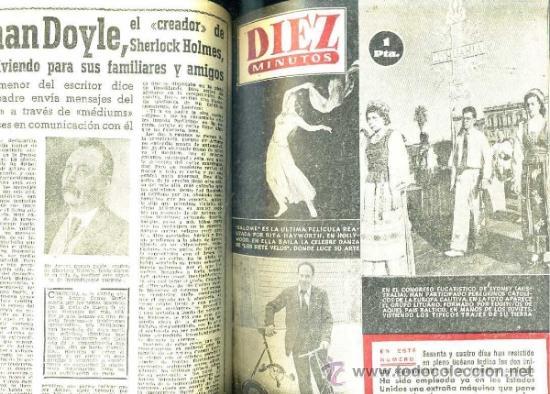 Coleccionismo de Revista Diez Minutos: REVISTA DIEZ MINUTOS : AÑO COMPLETO 1953 : 52 NÚMEROS ENCUADERNADOS.. - Foto 2 - 31010595